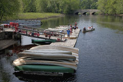 Canoeing on summer day Stock Photography