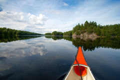 Canoeing Sweden Stock Images