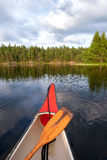 Canoeing Sweden Stock Photography