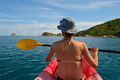 Canoeing in Thailand Royalty Free Stock Photos