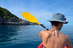 Canoeing in Thailand Royalty Free Stock Photography