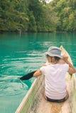 Canoeing among the Togian Islands Stock Photos