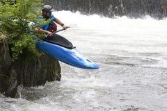 Canoeing van de stroomversnelling Stock Fotografie
