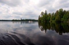 Canoeing van grenswateren Royalty-vrije Stock Foto