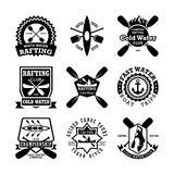 Canoeing Vector Icons 7 Royalty Free Stock Photos