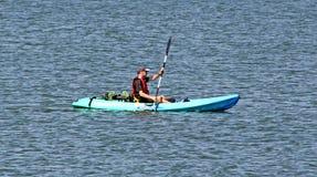 Canoeist in der Regatta Lizenzfreie Stockfotos