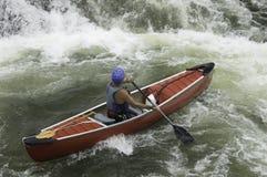 Canoeist di Whitewater Immagine Stock Libera da Diritti