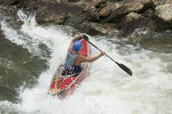 Canoeist di Whitewater Fotografie Stock