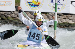 Canoeist in international racing Stock Images