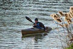Canoeist stock image