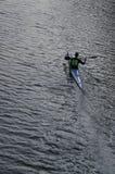 Canoeist a solas Imagen de archivo libre de regalías