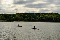 canoeists imagen de archivo libre de regalías