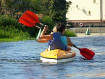 CANOEISTS Royalty Free Stock Image