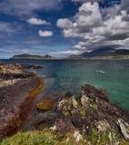 Canoeists in Dingle, Ireland. A Canoe in a beautiful bay in Dingle, Republic of Ireland Stock Image
