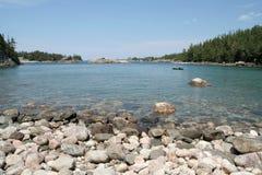 Canoeists en stationnement provincial de supérieur de lac photos libres de droits