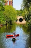 Canoeists on River Tame, Tamworth. Stock Photos
