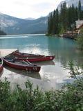 canoes озеро рисуночное Стоковые Изображения RF