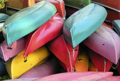 Canoes. Used canoes stock images