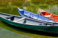 Free Canoes Royalty Free Stock Photo - 27393435