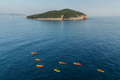 Canoes in Adriatic Sea Royalty Free Stock Photo