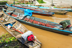 Canoes in the Amazon Royalty Free Stock Image