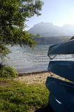 Canoes on Annecy lake, France Stock Photos
