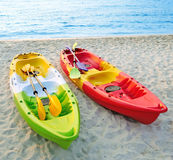Canoes on the beach. Stock Photography