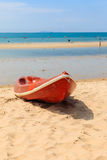 Canoes on the beach Stock Photography