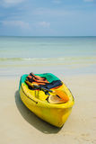 Canoes on the beach[1] Royalty Free Stock Photos