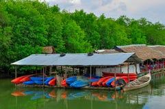 Canoes on beautiful tourquoise sea Stock Image