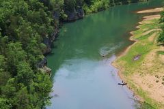 Canoes on the Buffalo National River Royalty Free Stock Image