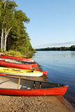 Canoes and Kayaks Royalty Free Stock Images