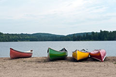 Canoes on the lake Royalty Free Stock Images