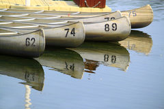 Canoes on Lake Royalty Free Stock Image