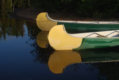 Canoes and light Royalty Free Stock Photo