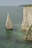 Canoes near The Pinnacle, Old Harrys Rocks Royalty Free Stock Photo