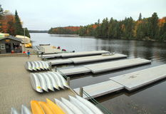 Canoes at the Portage Stock Photography
