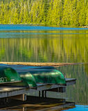 Canoes ready for Happy Campers Royalty Free Stock Photo