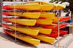 Canoes for rent Royalty Free Stock Photo