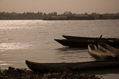 Canoes in Saint-Louis Stock Photo