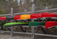 Canoes for sale Royalty Free Stock Photo