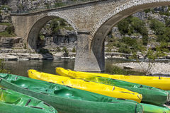 Canoes in Southern France Royalty Free Stock Photos