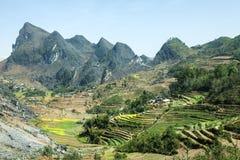 Canolagebied op berg van etnische minderheden Stock Fotografie