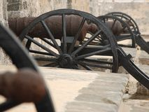 Canon. Antique canon in a fort at Campeche, Mexico Royalty Free Stock Photo