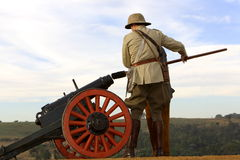 Canon. Old military canon located at the Voortrekker Monument royalty free stock image