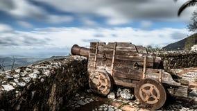 Canon ad Eagle Castle, Gaucin, Spagna Immagini Stock