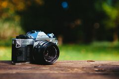Canon AE-1 Camera Stock Photo