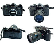 Canon AE-1 Program isolation in multiple view Stock Image