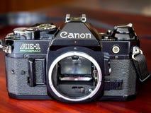Canon AE-1 program is old classic film camera Stock Image