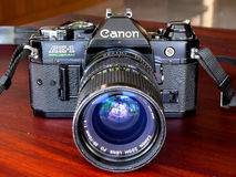 Canon AE-1 program is old classic film camera Stock Photography